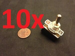10 Pieces On off 2 Spst Metal Handle Toggle Switch Ac 125v 4a Dc 1 2 Hole C15