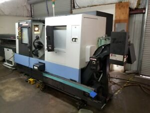 Used 2007 Daewoo Puma 2000sy Cnc Live Tool Y Axis Sub Spin Turning Center Lathe