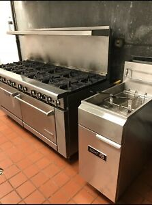 12 Brener Commercial Stove And Commercial Fryer Call For Pick Up 6788830319