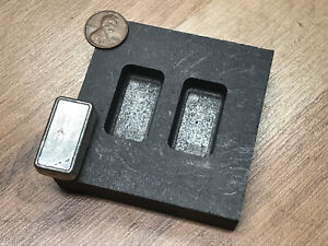 1 oz Loaf Bar - Silver Graphite Ingot Mold - Loaf Bar - Casting Melting Refining