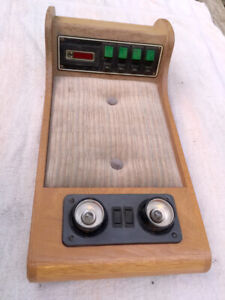 Custom Chevy Van Tmc Ovrhd Wood Console W 12v Lights Four Switch Control Panel