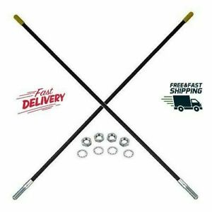 Set Of 2 Guide Markers Snow Plow Sticks Part For Fisher Plow 7906k 5108a Black