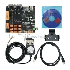 9 Axis Cnc Controller Kit Stepper Motor Breakout Board handwheel usb Cable cd Z
