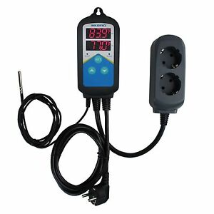 220v Digital Temperature Controller Thermostat Thermocouple Timer Time Itc 306t