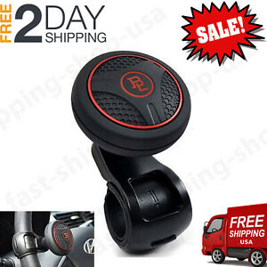 Power Handle Car Steering Wheel Spinner Black Knob Ball Vehicle Suicide Accessor
