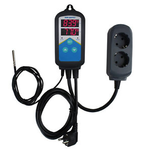 220v Fermenting Digital Temperature Temp Controller Thermostat Timer Plug Play