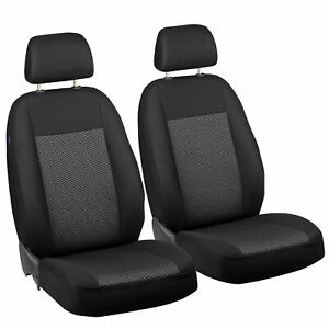 Car Seat Covers For Volkswagen Fox Front Seats Black Grey Triangles