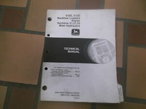 John Deere 410d 510d Backhoe Loader Hydraulics Shop Service Repair Manual Tm1513