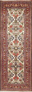 Extra Fine Oriental All Over Handmade Floral Wool Persian Malayer Runner Rug 3x7