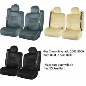 Chevy Silverado Scottsdale Front Seat Covers W Built in Seat Belt Opening