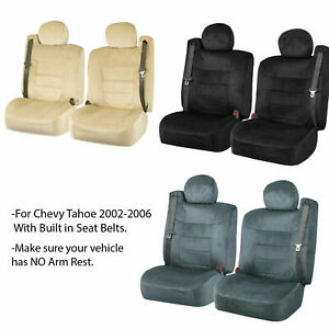 Chevy Tahoe Scottsdale Front Seat Covers W Built In Seat Belt Opening