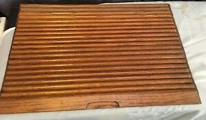Vtg Oak Roll Top Desk Or Tambour Replacement Cloth Backed Slats Nice Condition