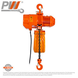Prowinch 4 400 Lbs 2 Ton 20 Ft Lift Height Electric Chain Hoist G100 Chain