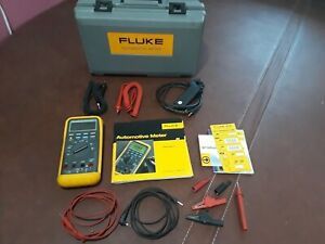 Fluke 88 Automotive Meter Excellent Rpm Clamp Extra Leads Case Manuals