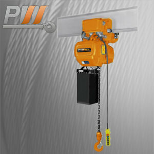 Prowinch Electric Chain Hoist Power Trolley 6 600 Lbs 30 Ft G100 Chain 2 Speed