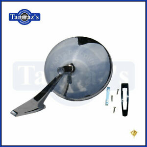 Chevy Chrome Round No Bowtie Rear View Smooth Base Door Side Mirror