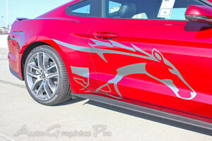 Side Horse Vinyl Graphic Pony Stripe Steed Decal 3m Vinyl 2015 2017 Ford Mustang