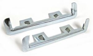 55 57 For Chevy Wagon Nomad Rear Tail Gate Tailgate Hinge Chrome Trim Molding Pr