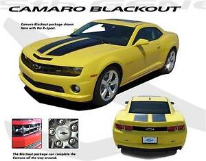 Blackouts Bowtie Trunk Vent Ss Intake 3m Decals Graphics For 2012 Camaro