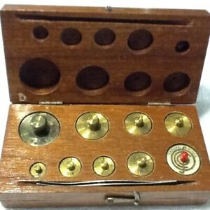 Vintage Eimer And Amend Fisher Scientific Metal Gram Scale Weight Set