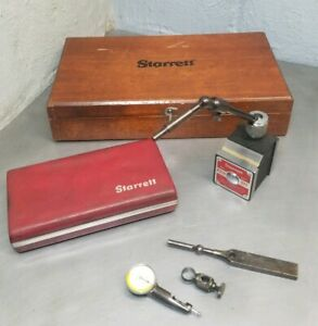 Starrett No 657a Magnetic Base W No 711 Last Word In A Wooden Protective Box