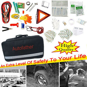 Auto Emergency Kit Roadside Assistance 123 in 1 First Aid Kit For Car Van Suv