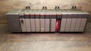 Allen Bradley Slc 500 Power Supply 5 04 Cpu Used 4 Input 3 Output Cards 13 slot