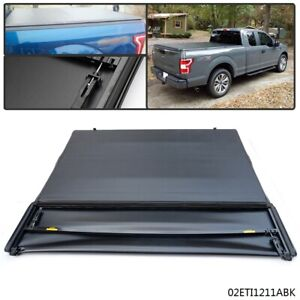 For 2015 2018 Ford F150 Assemble Lock Soft Four Fold Tonneau Cover 6 5ft Bed