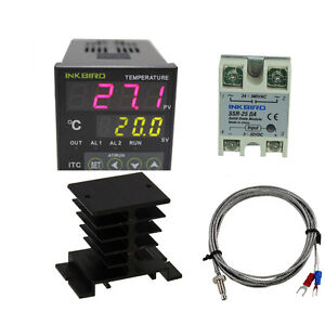 Inkbird Itc 100vh Digital Pid Temperature Controller 40 25 Ssr Pt100 Heat Cool