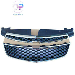 Front Bumper Upper Lower Grille Set Of 2 Pcs Fit For 2011 2014 Chevy Cruze