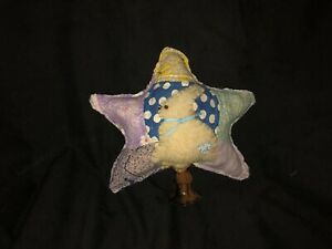 Primitive Star Make Do Quilt Spring Easter Wool Bunny Blue Lavender Yellow