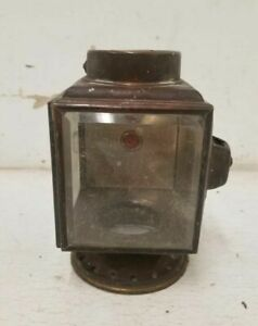 1913 Brass Era Cowl Light With Gem Potentially Solar Overall Good Condition