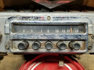 1954 Ford Radio Am Push Button Hi fidelity Factory 54 Coupe Convertible Oem 120