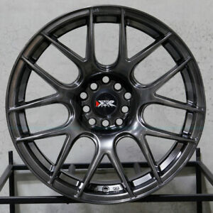 4 New 17 Xxr 530 Wheels 17x7 5x100 5x114 3 35 Chromium Black Rims
