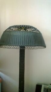 Vintage Arts And Crafts Wicker Floor Lamp