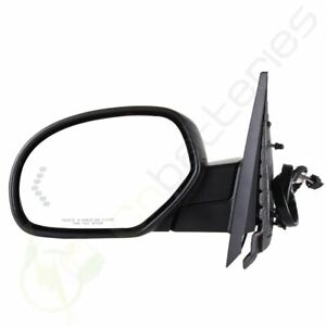 For 07 13 Chevy Power Fold Heated Puddle Signal Memory Black Driver Side Mirror