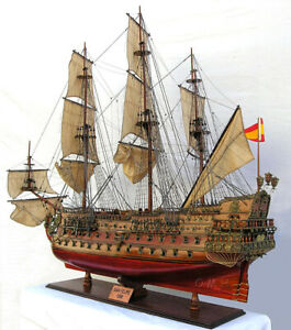 San Felipe Spanish Armada Galleon Tall Ship 56 X Large Wood Model Assembled