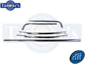 67 69 Camaro Firebird Rear Chrome Reveal Window Molding Trim Set Dynacorn New