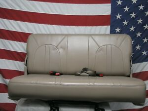 97 02 Ford Expedition 3rd Row Seat Eddie Bauer Tan Leather