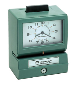 Acroprint Manual Time Recorder Card Punch stamp 011070400