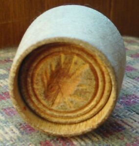 Vintage Wooden Hand Carved Fish Butter Press Stamp Mold