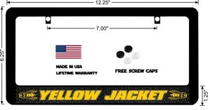 Dodge Challenger Yellow Jacket Thin Top Custom License Plate Frame