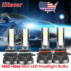 Mini 9006 9005 Led Headlight Kit 6000k For Chevy Silverado1500 2500 Hd 2001 2006