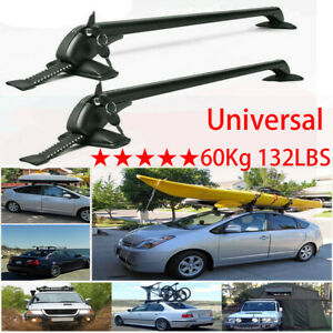 Universal Car Roof Top Cross Bar Luggage Cargo Rack Aluminum For Chevy Gmc Ford