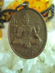 Pendant Shiva God Ganesh On Skulls Hindu Om Power Lucky Success Thai Amulet
