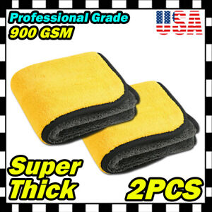 Extremely Plush Microfiber Towel Cleaning Rag Cloth Polishing Detailing Buffing