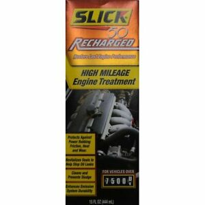 Slick 50 Recharged High Mileage Engine Treatment 15 Oz Restore Performance