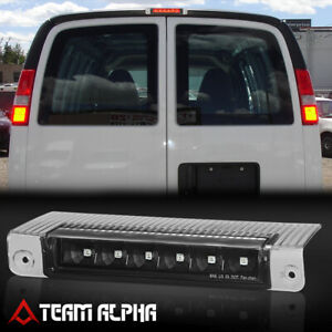 Fits 2003 2017 Chevy Express savana black clear Led Third 3rd Brake Light Lamp