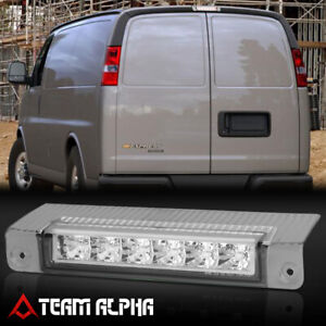 Fits 2003 2017 Chevy Express savana chrome clear led Third 3rd Brake Light Lamp