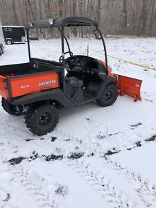 2014 Kubota Rtv 500 Gas 4x4 Utility Vehicle Only 70 Miles With Plow